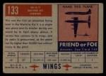1952 Topps Wings #133   SR A-1 Back Thumbnail