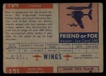 1952 Topps Wings #104   MD-450 Ouragan Back Thumbnail