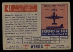 1952 Topps Wings #41   R60 Constitution Back Thumbnail