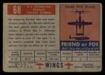 1952 Topps Wings #68   IL-2 Stormovik Back Thumbnail