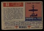 1952 Topps Wings #88   C-47 Skytrain Back Thumbnail