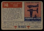 1952 Topps Wings #148   DH 112 Venom Back Thumbnail