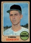 1968 Topps #207  Carroll Sembera  Front Thumbnail