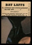 1966 Topps Batman Color #53   Batman Back Thumbnail