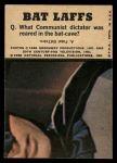 1966 Topps Batman Color #54   Penguin / Riddler / Joker Back Thumbnail