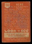 1952 Topps Look 'N See #110  Nero  Back Thumbnail