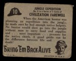 1950 Topps Bring Em Back Alive #10   Jungle Expedition Back Thumbnail