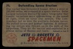 1951 Bowman Jets Rockets and Spacemen #71   Defending Space Station Back Thumbnail