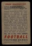 1951 Bowman #35  Chuck Drazenovich  Back Thumbnail