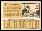 1963 Topps #515  Don Elston  Back Thumbnail