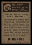 1951 Topps Ringside #26  Joe Miceli  Back Thumbnail