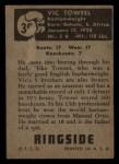 1951 Topps Ringside #36  Vic Toweel  Back Thumbnail