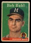 1958 Topps #176  Bob Buhl  Front Thumbnail