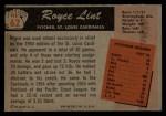 1955 Bowman #62  Royce Lint  Back Thumbnail
