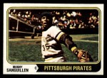 1974 Topps #28  Manny Sanguillen  Front Thumbnail