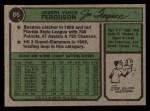 1974 Topps #86  Joe Ferguson  Back Thumbnail