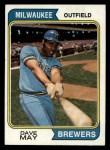 1974 Topps #12  Dave May  Front Thumbnail