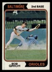 1974 Topps #109  Bobby Grich  Front Thumbnail