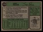 1974 Topps #116  Jerry Reuss  Back Thumbnail