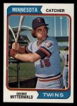 1974 Topps #249  George Mitterwald  Front Thumbnail