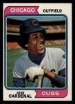 1974 Topps #185  Jose Cardenal  Front Thumbnail