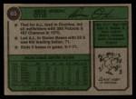 1974 Topps #65  Amos Otis  Back Thumbnail