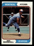 1974 Topps #73  Mike Marshall  Front Thumbnail