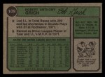 1974 Topps #109  Bobby Grich  Back Thumbnail
