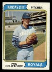 1974 Topps #225  Paul Splittorff  Front Thumbnail