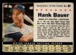 1961 Post #90 BOX Hank Bauer   Front Thumbnail