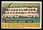 1956 Topps #85 D55  Indians Team Front Thumbnail
