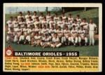 1956 Topps #100 D55  Orioles Team Front Thumbnail