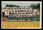 1956 Topps #95 D55  Braves Team Front Thumbnail