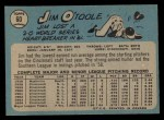 1965 O-Pee-Chee #60  Jim O'Toole  Back Thumbnail