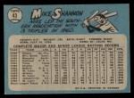 1965 O-Pee-Chee #43  Mike Shannon  Back Thumbnail