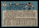1965 O-Pee-Chee #47  Tommy Harper  Back Thumbnail