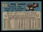 1965 O-Pee-Chee #161  Frank Baumann  Back Thumbnail