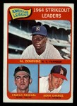 1965 O-Pee-Chee #11   -  Dean Chance / Al Downing / Camilo Pascual AL Strikeout Leaders Front Thumbnail