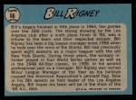 1965 O-Pee-Chee #66  Bill Rigney  Back Thumbnail