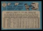 1965 O-Pee-Chee #215  Pete Ward  Back Thumbnail
