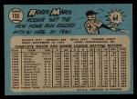 1965 O-Pee-Chee #155  Roger Maris  Back Thumbnail