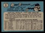 1965 O-Pee-Chee #23  Bob Tiefenauer  Back Thumbnail