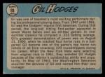 1965 O-Pee-Chee #99  Gil Hodges  Back Thumbnail