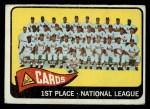 1965 O-Pee-Chee #57   Cardinals Team Front Thumbnail