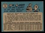 1965 O-Pee-Chee #118  Hal Lanier  Back Thumbnail