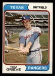 1974 Topps #268  Tom Grieve  Front Thumbnail