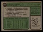 1974 Topps #294  Steve Foucault  Back Thumbnail