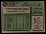 1974 Topps #324  Steve Kline  Back Thumbnail