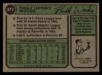 1974 Topps #377  Ron Woods  Back Thumbnail