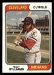1974 Topps #418  Walt Williams  Front Thumbnail